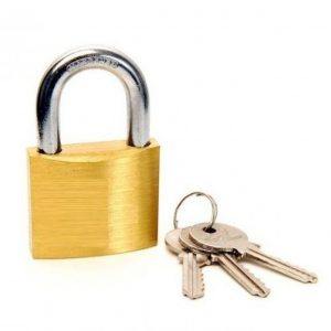 Padlock - brass padlock 50mm with 3 keys - Rodgers Building and Landscaping Supplies