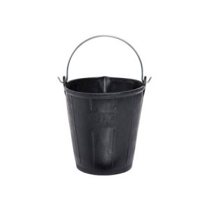 Ox Jar 15 Litre Rubber Bucket with Pouring Lip - Rodgers Building and Landscaping Supplies