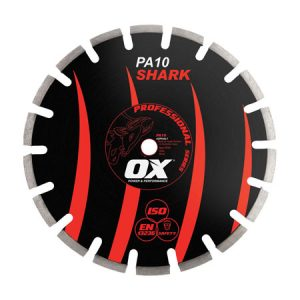 "Ox PA10 Shark 350mm/14"" Segmented Diamond Blade - Asphalt - Rodgers Building and Landscaping Supplies"