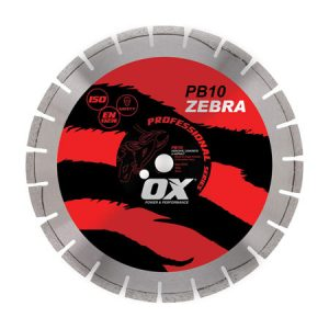 "Ox PB10 Zebra 350mm/14"" Segmented Diamond Blade - Abrasive - Rodgers Building and Landscaping Supplies"