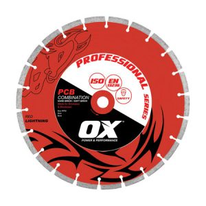 "Ox PCB 350mm/14"" Bench Saw Diamond Blade - Combination - Rodgers Building and Landscaping Supplies"