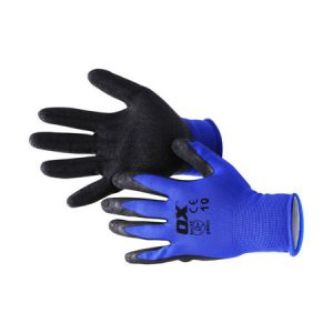 Ox Safety Latex Gloves - Polyester Lined - Rodgers Building and Landscaping Supplies