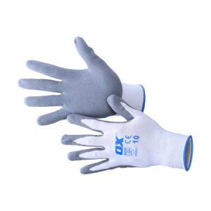 Ox Safety Nitrile Gloves - Nylon Lined - Rodgers Building and Landscaping Supplies