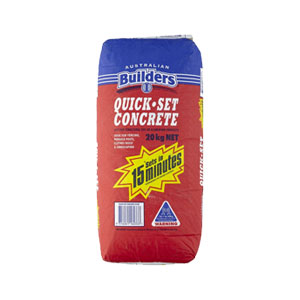 BPS Builders Quick-Set Concrete Mix (20kg) - Rodgers Building and Landscaping Supplies