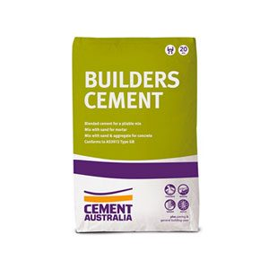 Cement Australia Builders Cement (20kg) - Rodgers Building and Landscaping Supplies