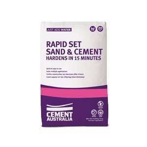 Cement Australia Rapid Set Sand and Cement Mix (20kg) - Rodgers Building and Landscaping Supplies