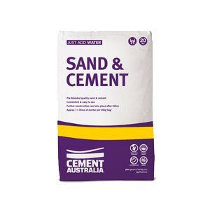 Cement Australia Sand & Cement Mix (20kg) - Rodgers Building and Landscaping Supplies
