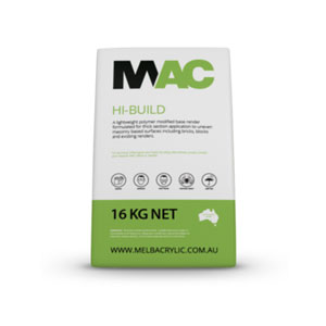 Mac Hi-Build Render (16kg) - Rodgers Building and Landscaping Supplies